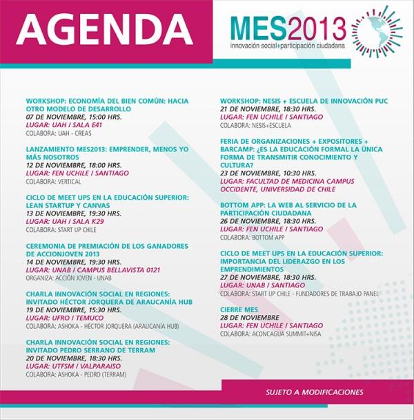 AgendaMES2013