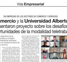 OTIC del Comercio y la Universidad Alberto Hurtado presentaron proyecto sobre los desafíos y oportunidades de la modalidad de teletrabajo / El Mercurio